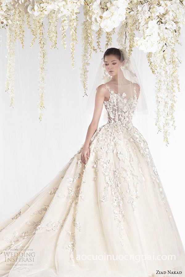 áo cưới công chúa đắp ren