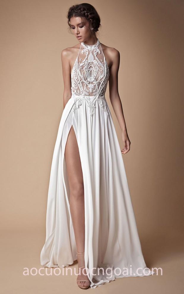 váy cưới xẻ tà sexy Berta SS18 Muse 18 xưởng may áo cưới đẹp sài gòn meera meera fashion concept