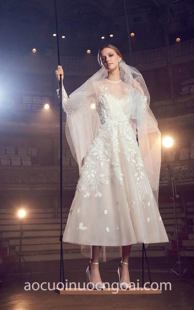 xưởng may váy cưới cao cấp tp hcm sài gòn áo cưới meera meera bridal váy cưới công chúa Elie-Saab-FW18-Bridal