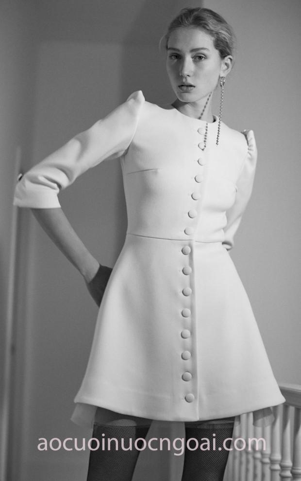 xưởng may áo cưới đẹp tp hcm sài gòn meera meera fashion concept váy cưới ngắn dựng phom thanh lịch Lein Fall18