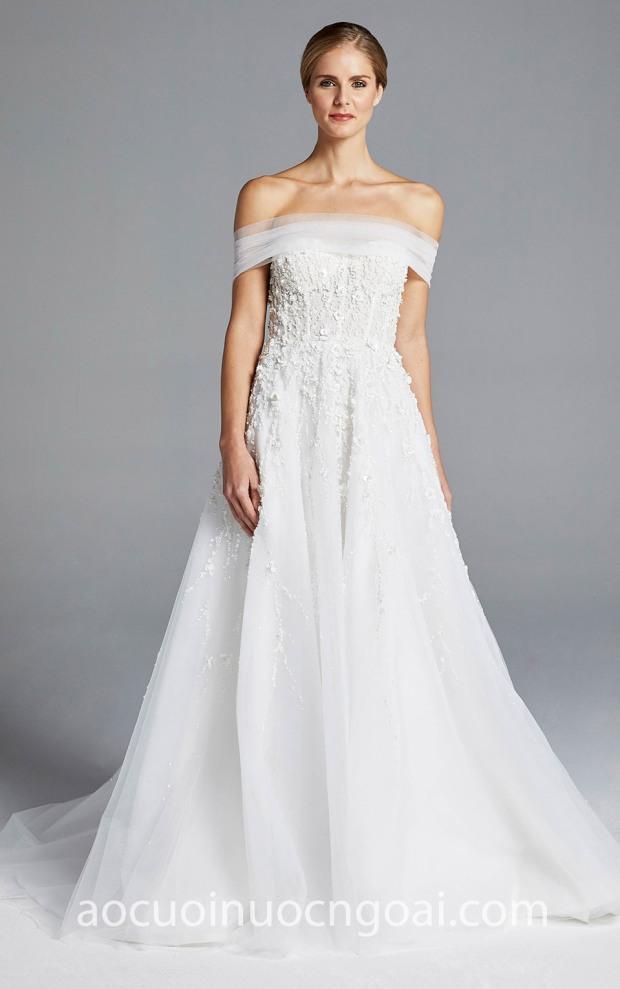 may ao cuoi dep tp hcm sai gon meera meera fashion concept vay cuoi duoi ca Anne Barge Spring 2019 KARLIE