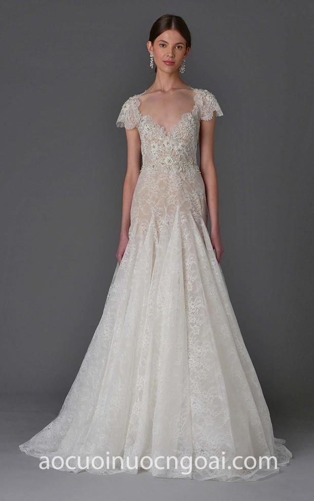 xuong may ao cuoi tp hcm sai gon meera meera fashion concept vay cuoi ren Marchesa-bridal 15 sang trong