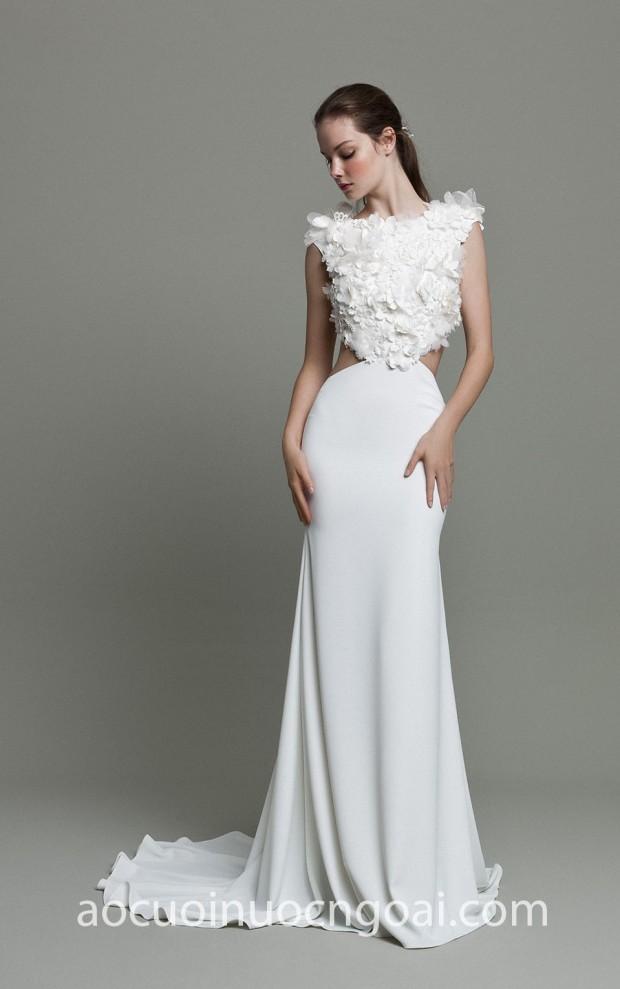may ao cuoi dep tp hcm sai gon meera meera fashion concept vay cuoi theu ren daalarna couture 2019 whisper 603