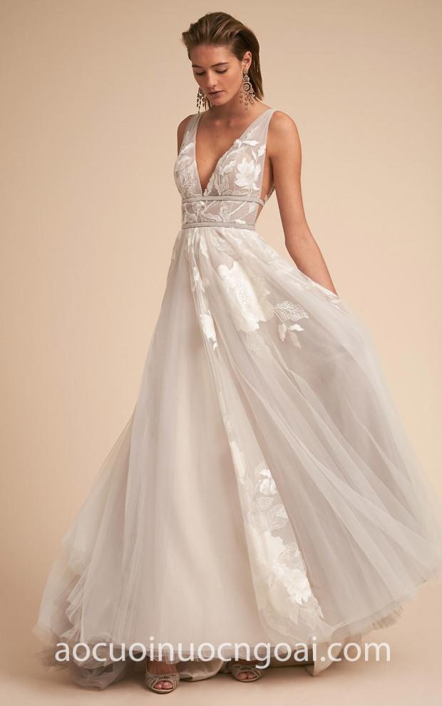 xuong may ao cuoi cao cap tp hcm meera meera bridal 2019 BHLDN Bridal Summer 2018 Hearst Gown Silver