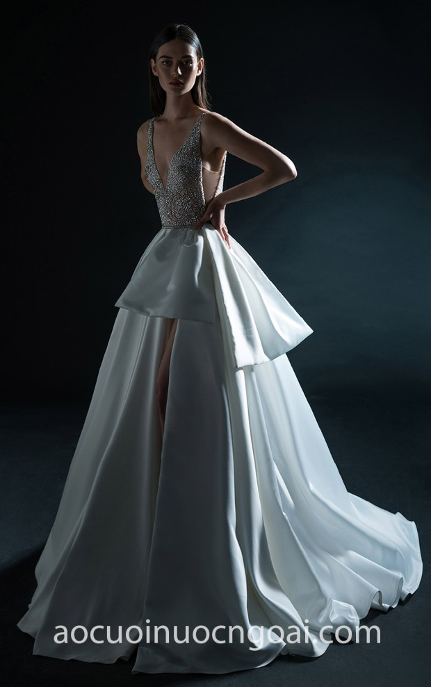 ao cuoi dep tp hcm meera meera fashion concept vay xe ta Inbal Dror Bridal Spring 2019-28