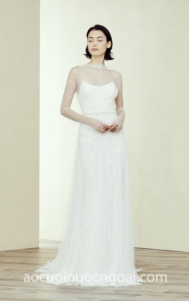 Áo cưới chữ A voan nhẹ nhàng NN6369