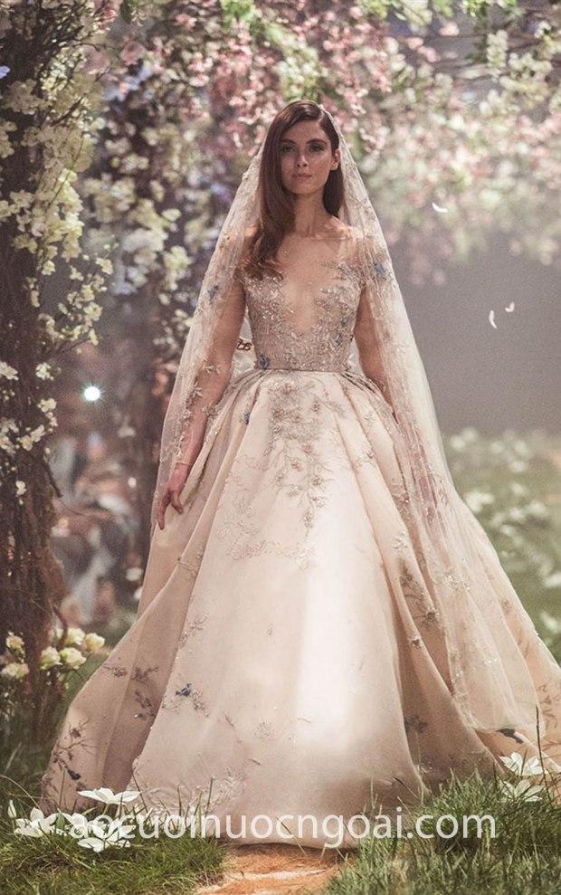 vay cuoi cong chua dep long lay may ao cuoi dep tp hcm meera meera fashion concept Paolo Sebastian Spring 18