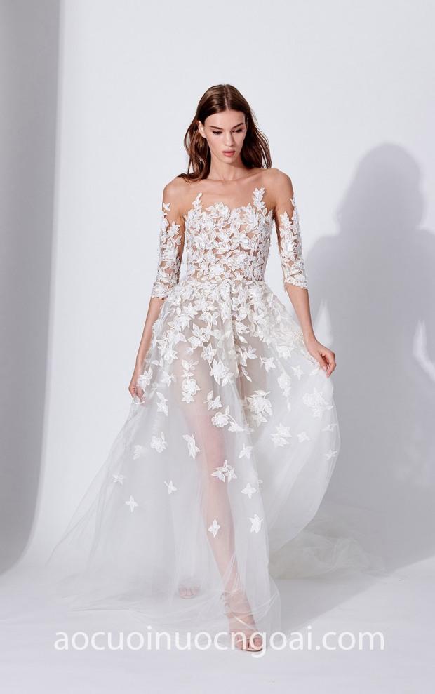 ao cuoi meera meera bridal may ao cuoi dep sai gon meera meera fashion concept Oscar de la Renta Bridal SS19 LOOK 3