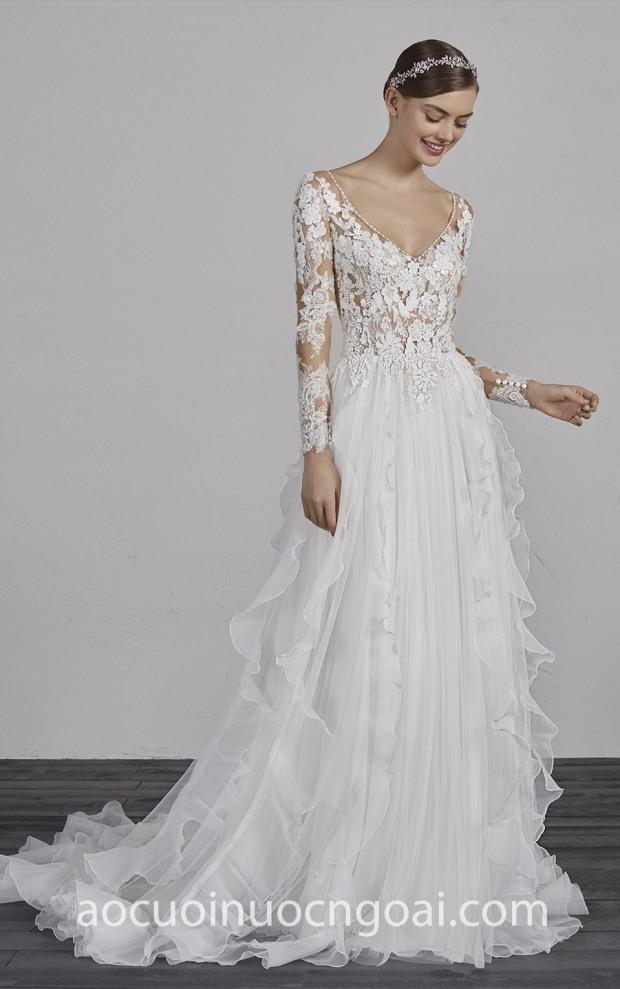 ao cuoi Meera Meera Bridal may ao cuoi dep TP HCM Meera Meera Fashion Concept Pronovias ESSIEN
