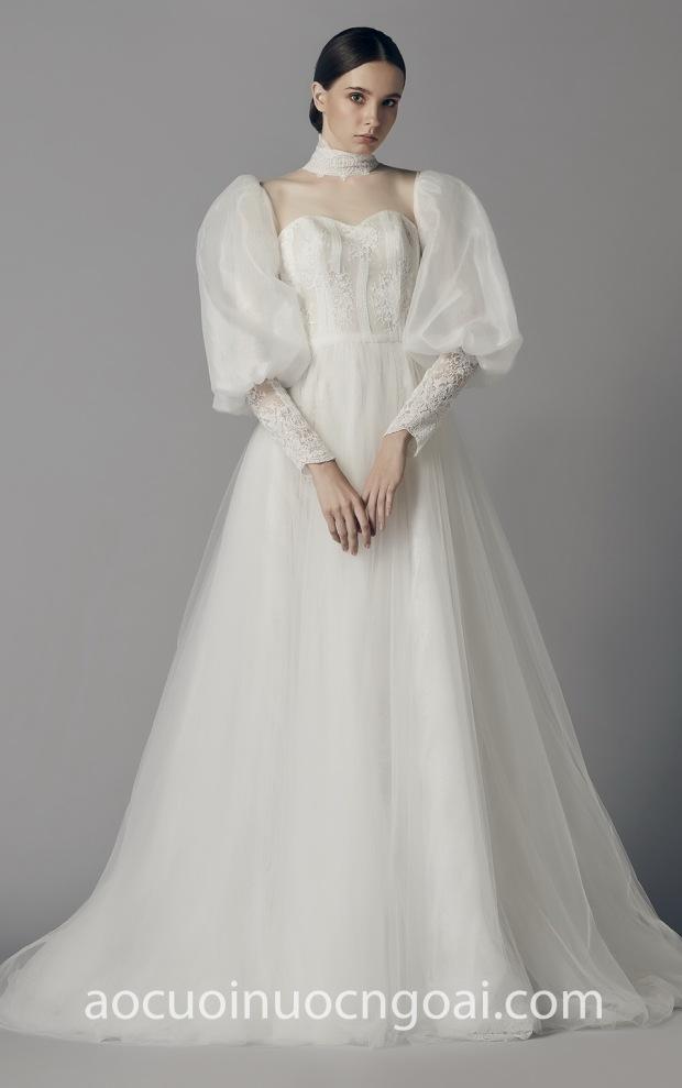 ao cuoi cong chua long lay may ao cuoi dep Sai Gon Meera Meera Bridal Mirror Mirror Bangkok 22