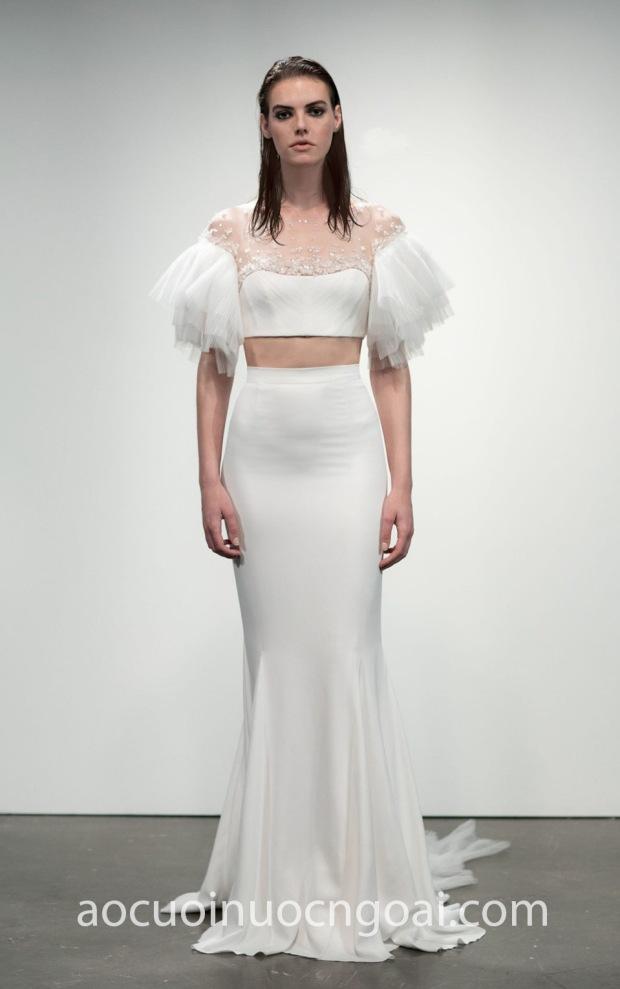 ao cuoi crop-top sexy Rime Arodaky 2019 Les Premières Agon may ao cuoi dep TP HCM Meera Meera Bridal