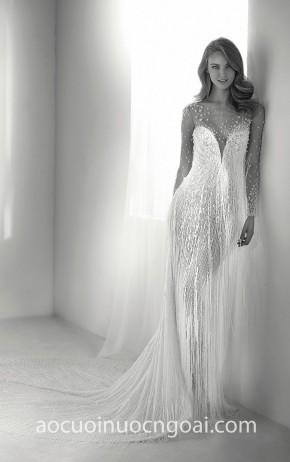 ao cuoi duoi ca da tiec Pronovias Haute Couture RIVA