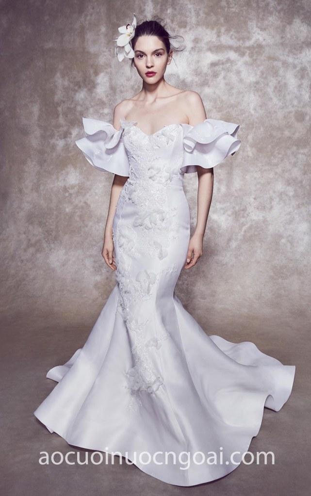 Áo cưới đuôi cá tùng xoè ấn tượng NN6978