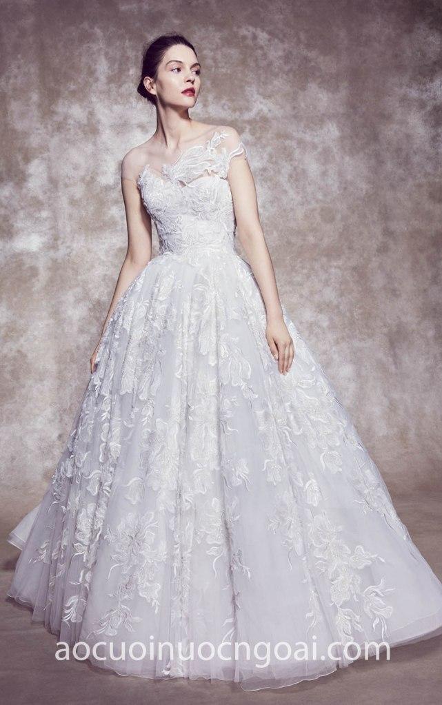 Áo cưới công chúa ren