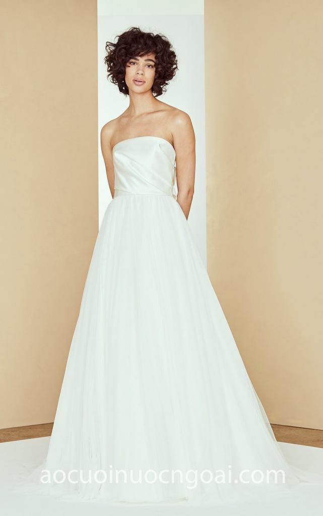 Áo cưới tối giản minimalist NN7017