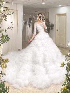 Áo cưới công chúa trễ vai lộng lẫy MM4128